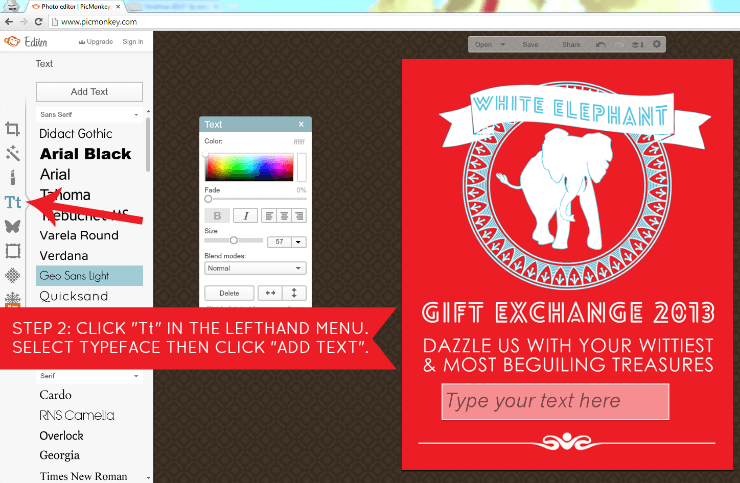 Free Printable | White Elephant Invitation. Download this free invitation and learn how to customize it. #printables #christmas