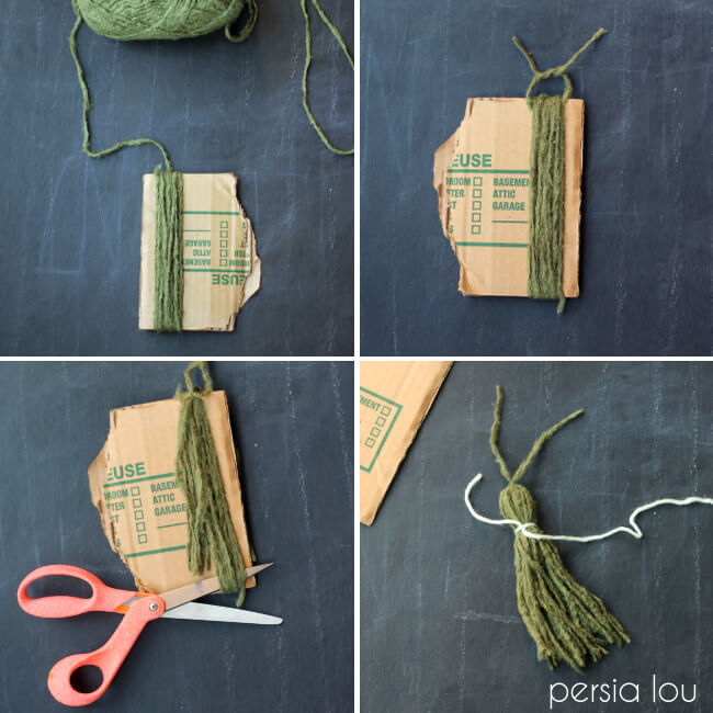 how to make a simple yarn tassel