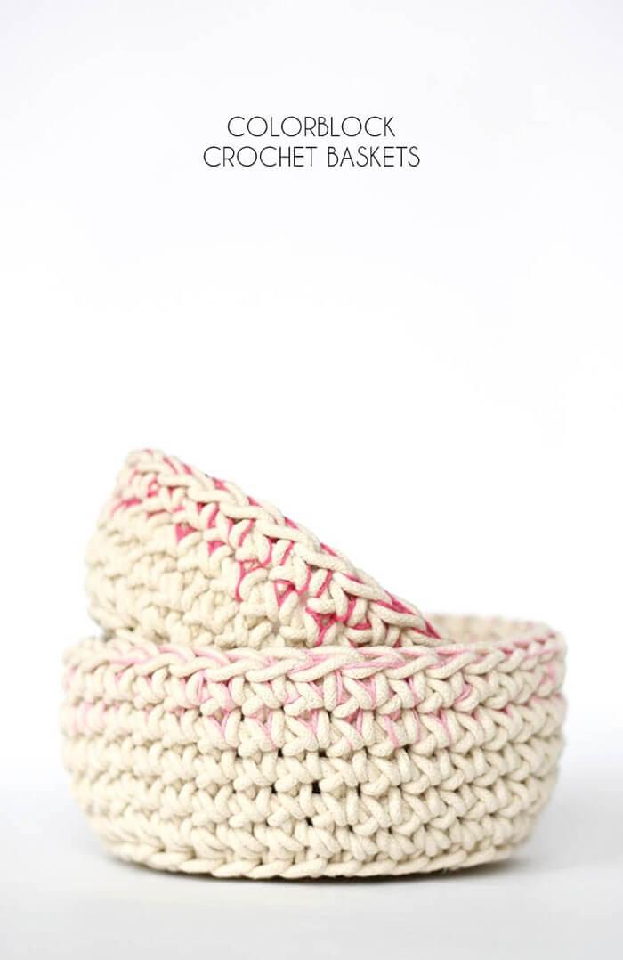 colorblock-crochet-baskets