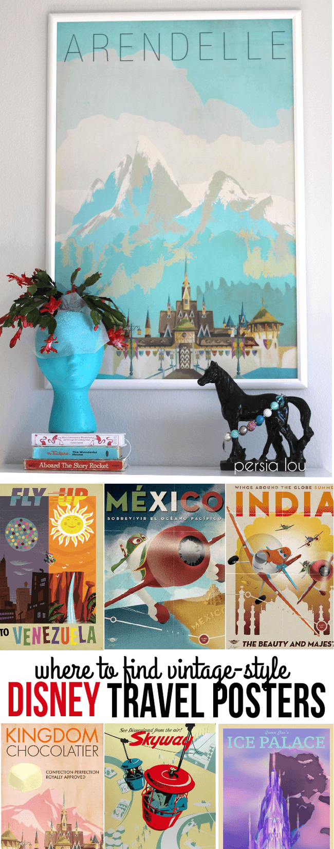 Where to Find Vintage Style Disney Posters  Persia Lou