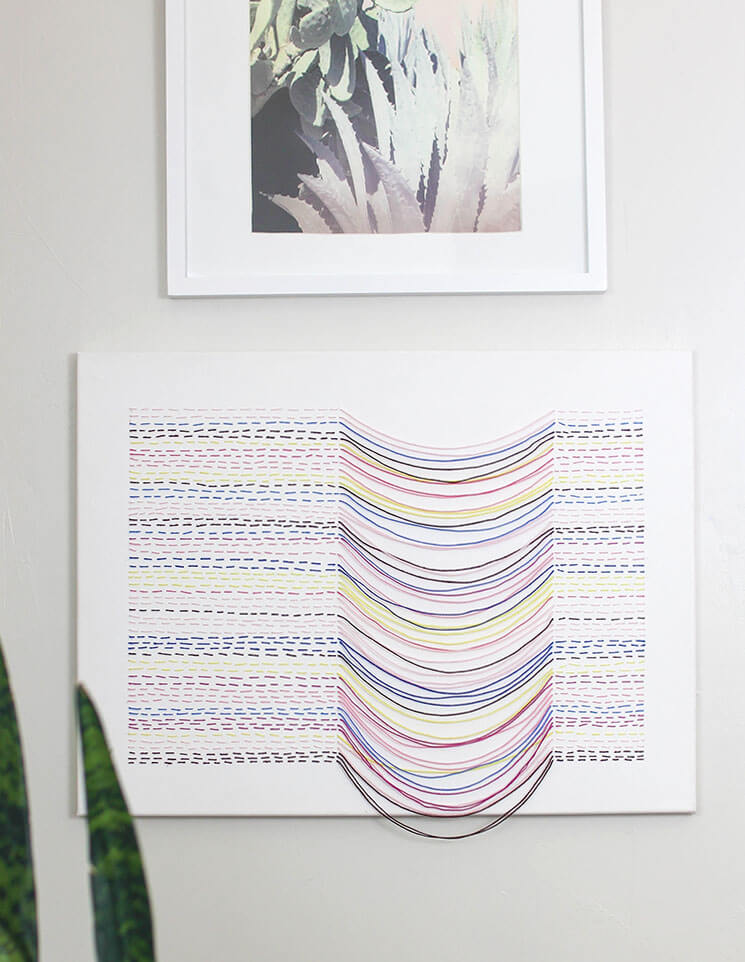 Make your own embroidered canvas wall art