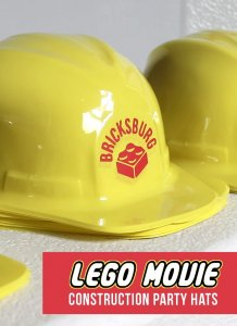 How to make your construction party hats for a Lego Movie or Lego birthday party. Easy to make with the free cut file and a Silhouette or Cameo