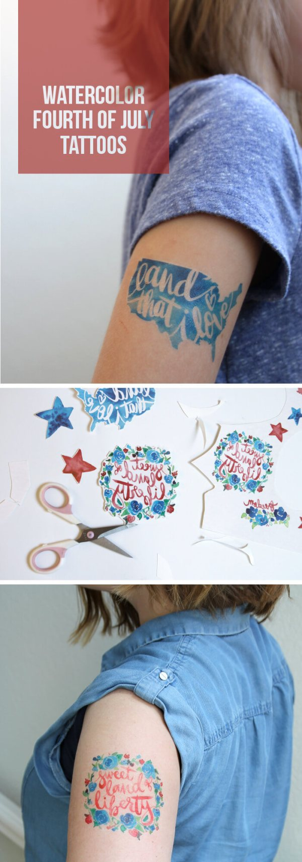 make watercolor fourth of july