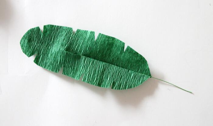 finished crepe paper leaf