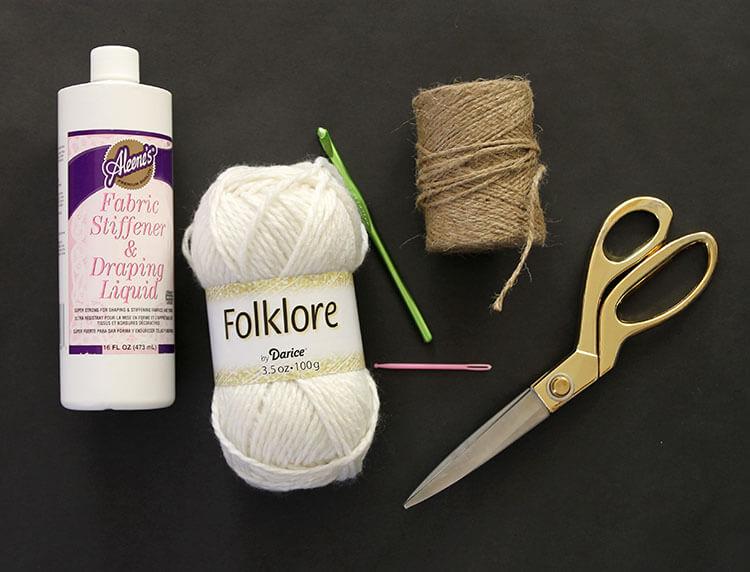 crochet star ornament supplies