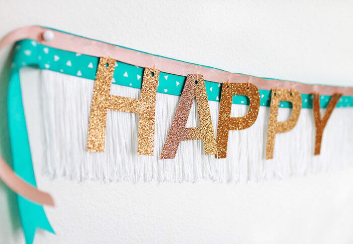 DIY Fringe Banner - simple and fun for birthdays and parties