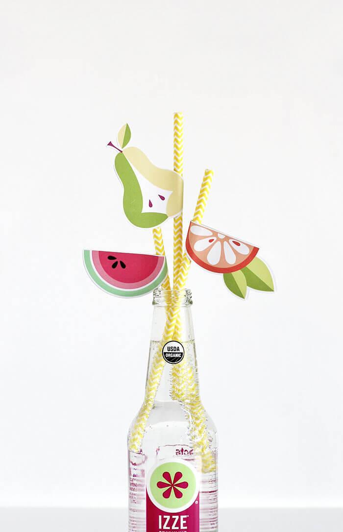 diy fruit straws