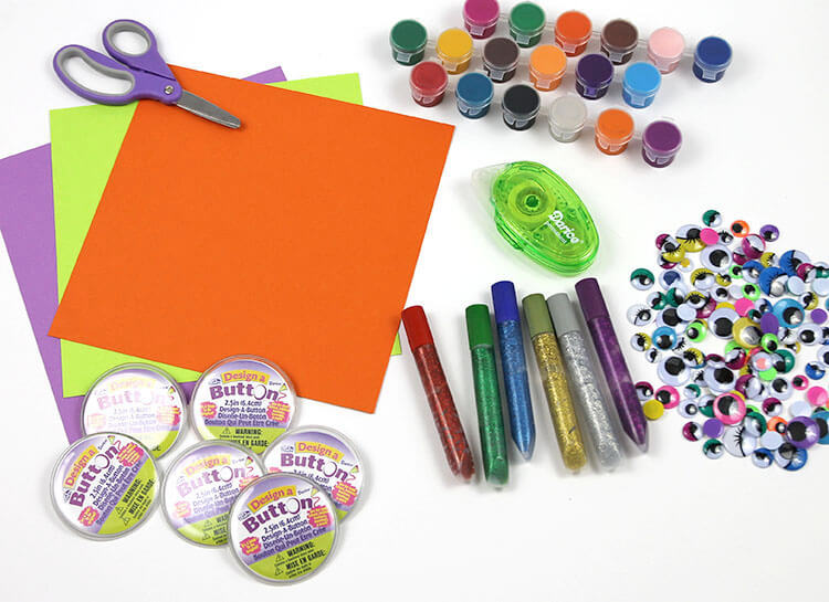 Monster Buttons - Kids Halloween Craft Supplies