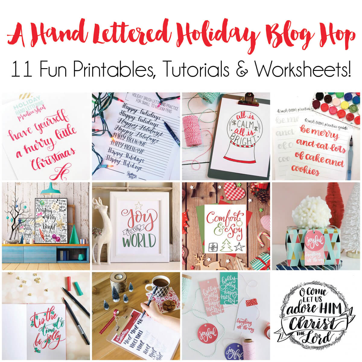 a hand lettered holiday blog hop