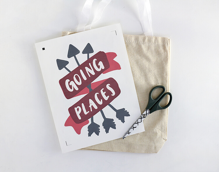DIY Tote Bag - Going Places