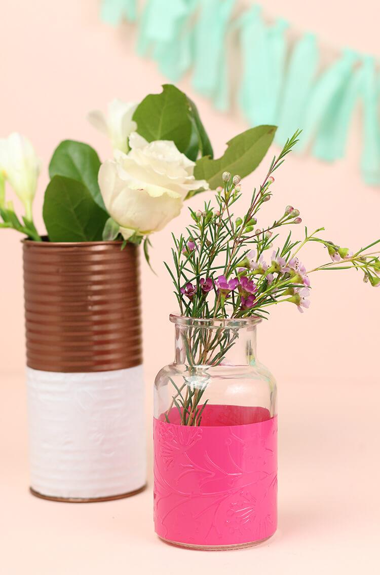 diy embossed vases