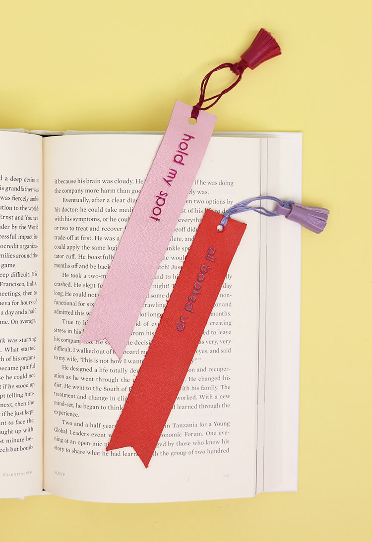 DIY Leather Bookmarks - How to Emboss and Cut Leather with the Silhouette Curio