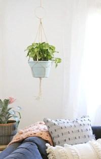 Simple DIY Macrame Plant Hanger - Persia Lou