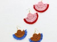 DIY Fringe Statement Earrings - Crochet Earrings Pattern ...