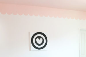 Sweet and Modern Girls Room Makeover with DIY Scalloped Wall