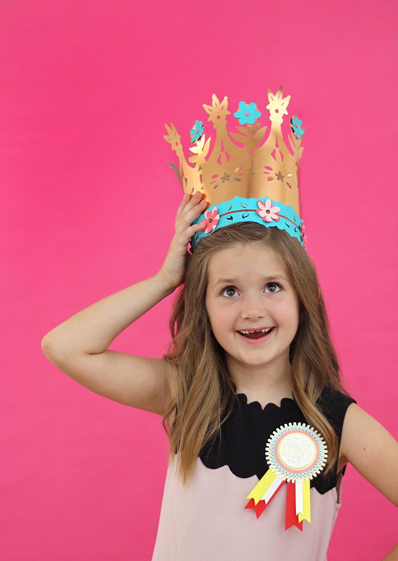 birthday party crown - diy paper crown