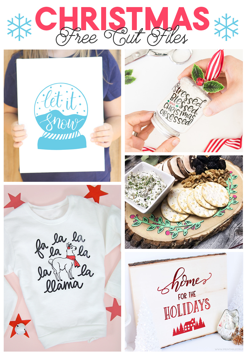 free Christmas cut files to use with your silhouette or cricut