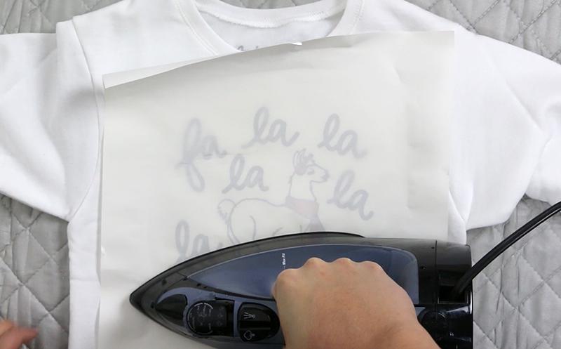 diy llama christmas sweater iron on heat transfer vinyl