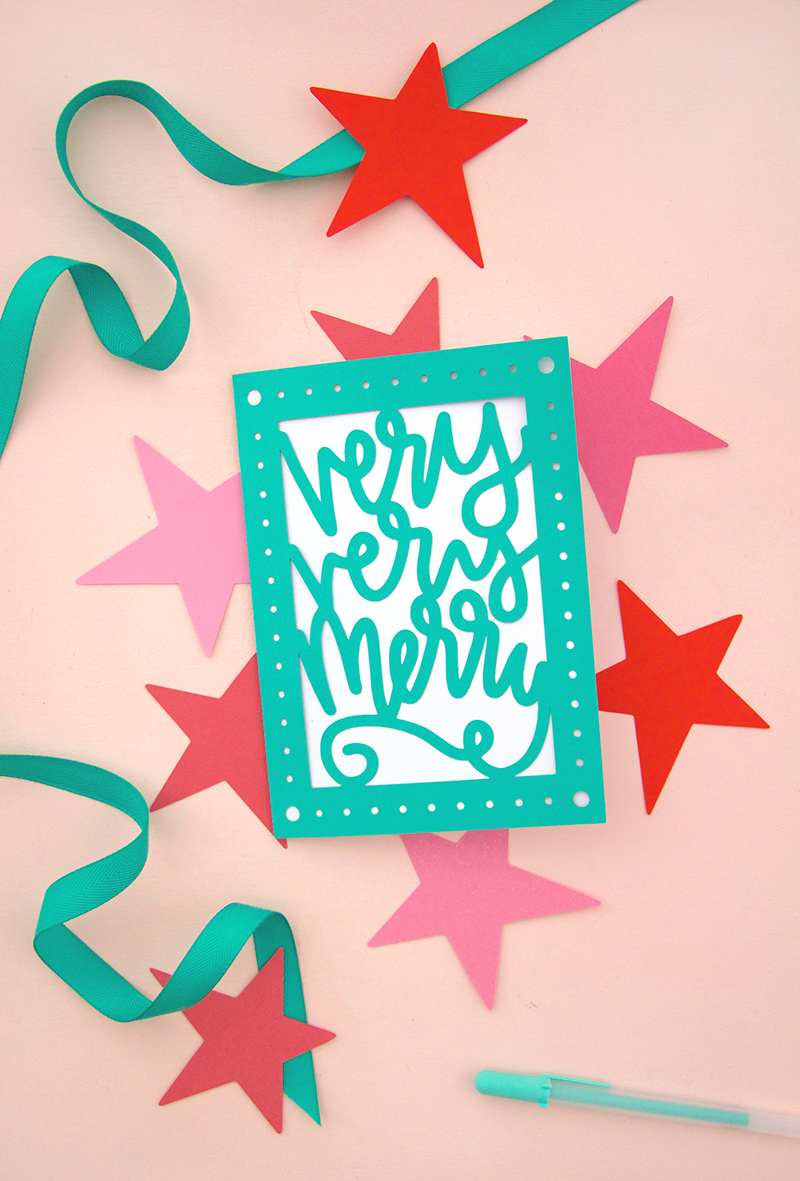 Download Paper Cut Christmas Card DIY - Free SVG Cut Files - Persia Lou