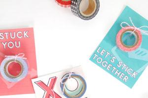 Free Printable Washi Tape Valentines