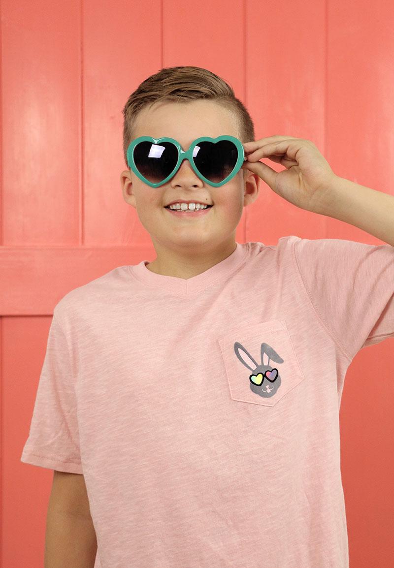 hip hop bunny boys easter shirt DIY