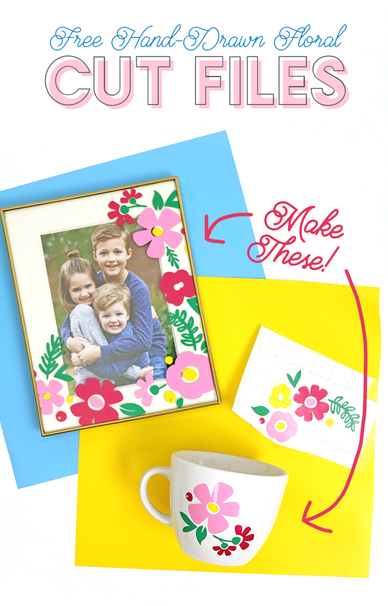 free flower cut files - make adorable flower vinyl decals using your silhouette or cricut