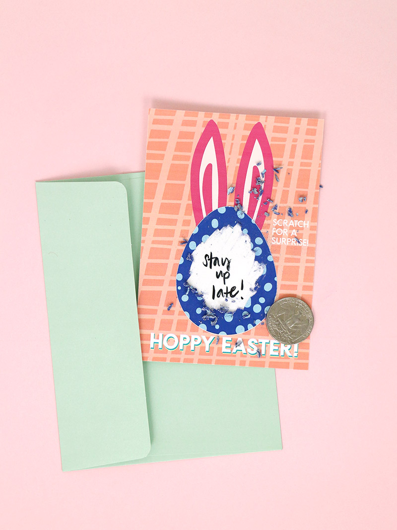diy scratch off cards for easter - make scratch off cards in color!