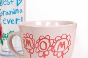 DIY Mother's Day Mugs and Cups using Child's Artwork or Handwriting