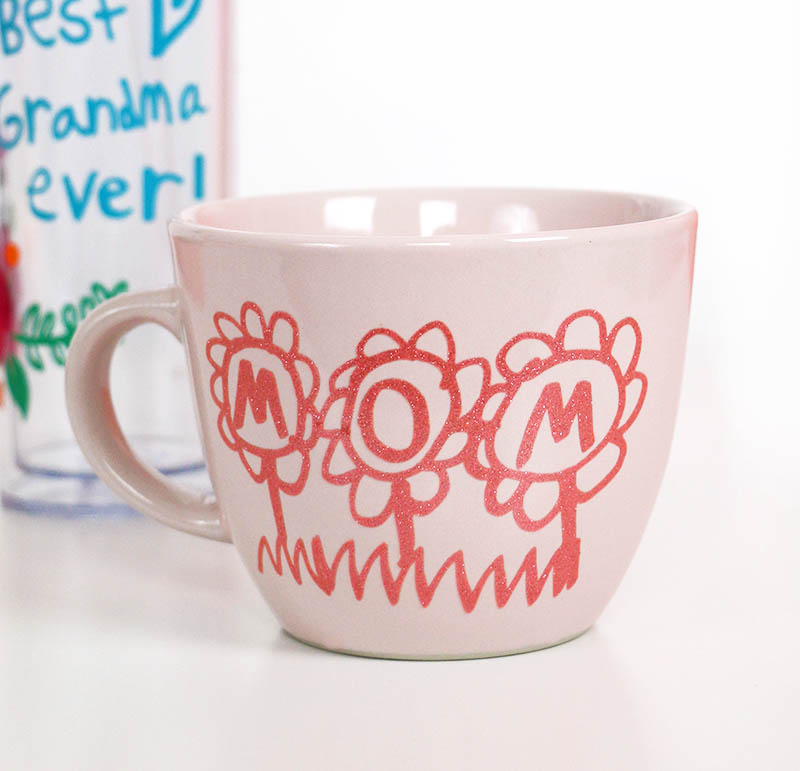 diy mothers day mug with kids artwork