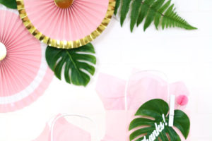 DIY Tropical Party Favor Gift Bags