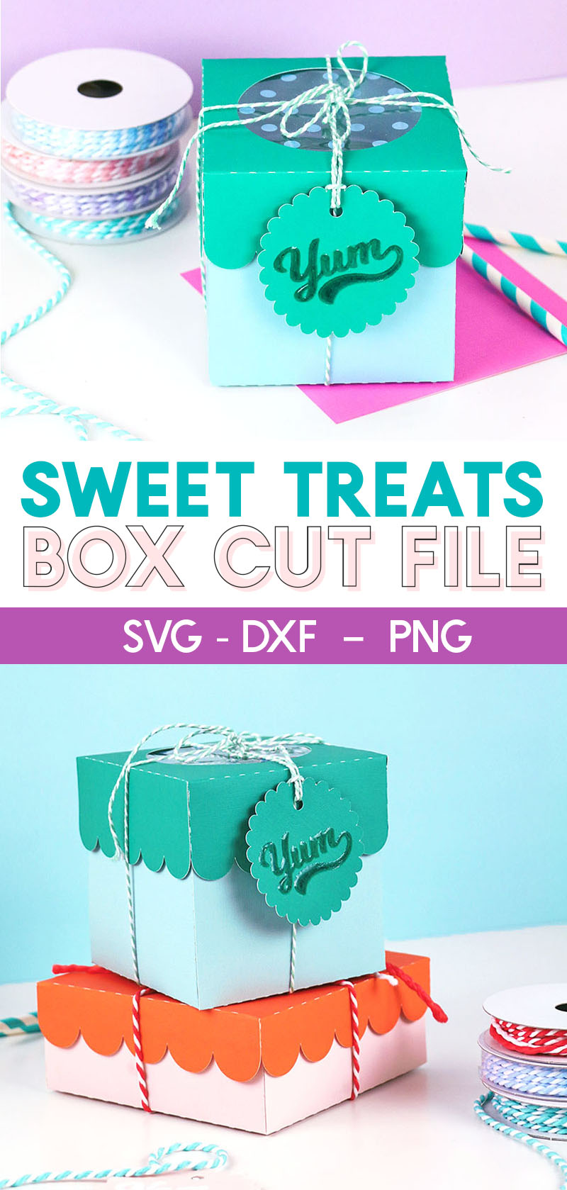 diy paper treat boxes with scalloped lids cut files for cricut or silhouette