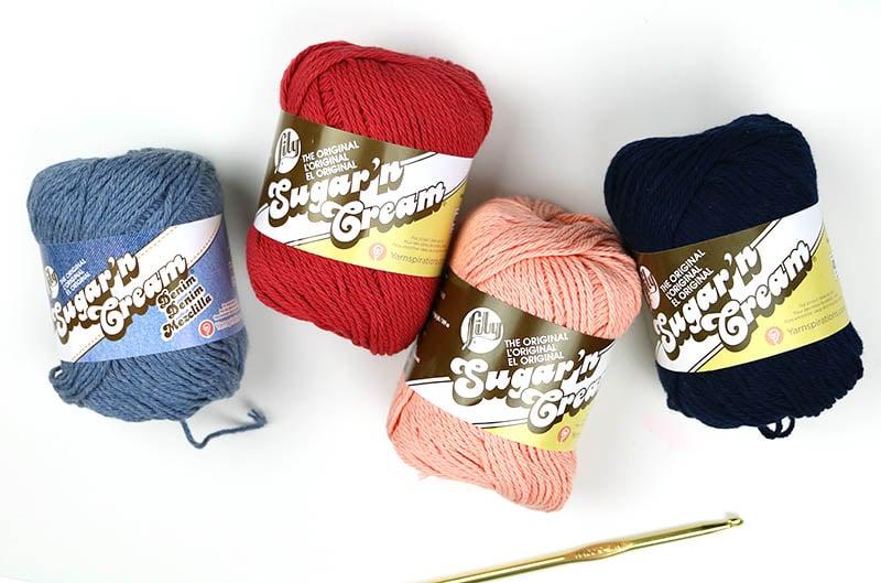crochet dishcloth supplies