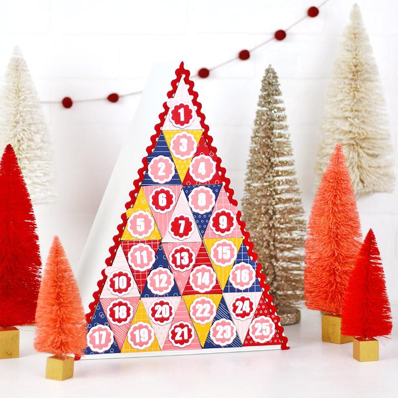 colorful DIY christmas advent calendar