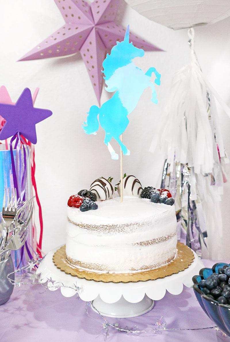 diy unicorn cake topper