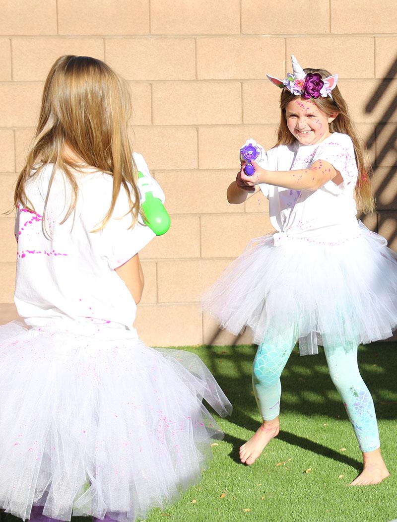 unicorn paint party paint fight activity