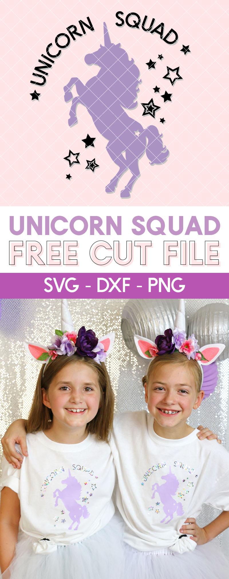 unicorn squad free cut file