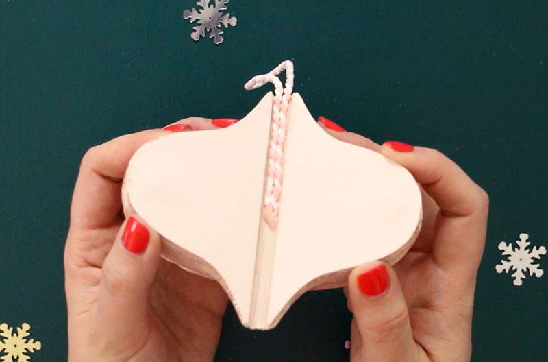 inside of open ornament