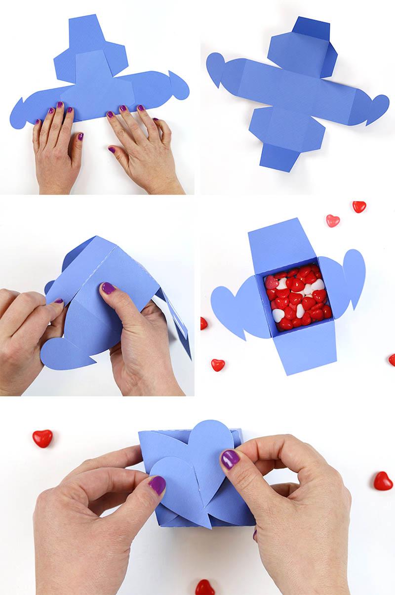 assemble heart tab box