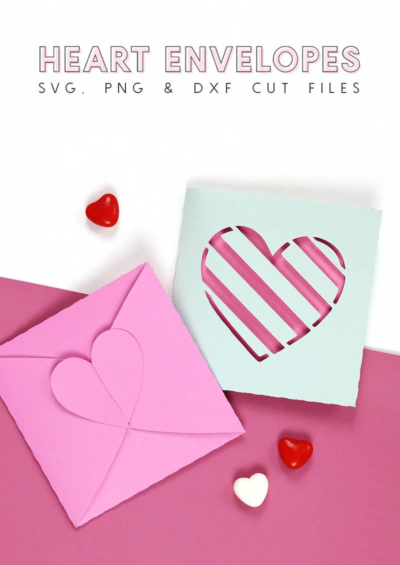 heart envelopes cut files