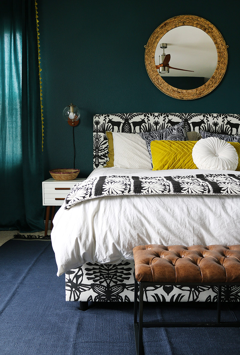 Dark Teal Bedroom Reveal Persia Lou