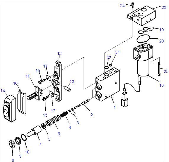 قطعات برقی پمپ Solenoid Valve Komatsu 702-21-07610 702-21
