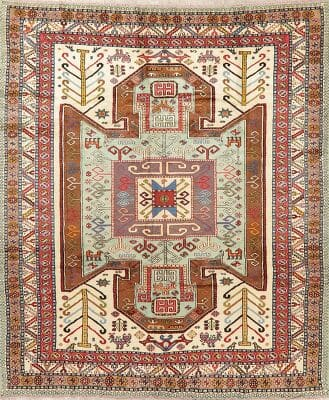 Best Persian Area Rug with geometric pattern
