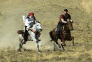 Mateusz and Jerzy gallop in Persian HBA vicinity