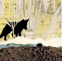 Fox and Internivean Vole (collage, 2013)