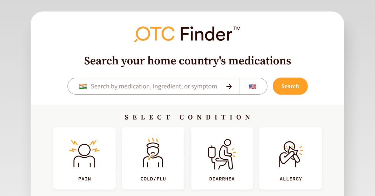 Match home non-prescription medications | United States ...