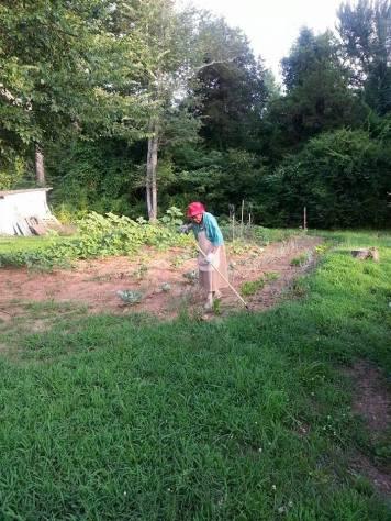 Grandma Byrd in Garden