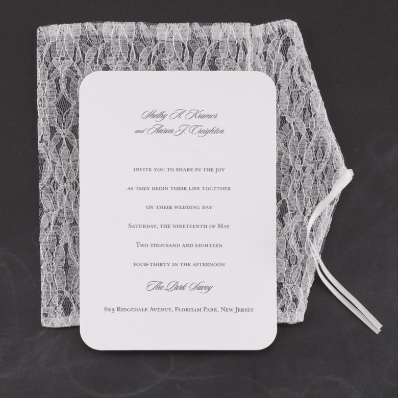 lace invitation elegant bespoke luxury invitation