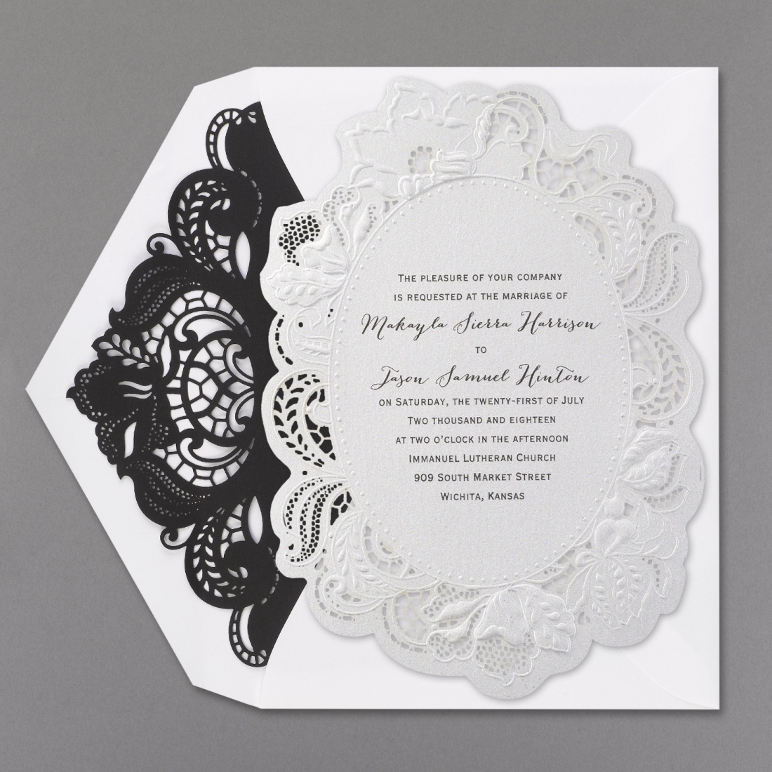 lace invitation laser cut