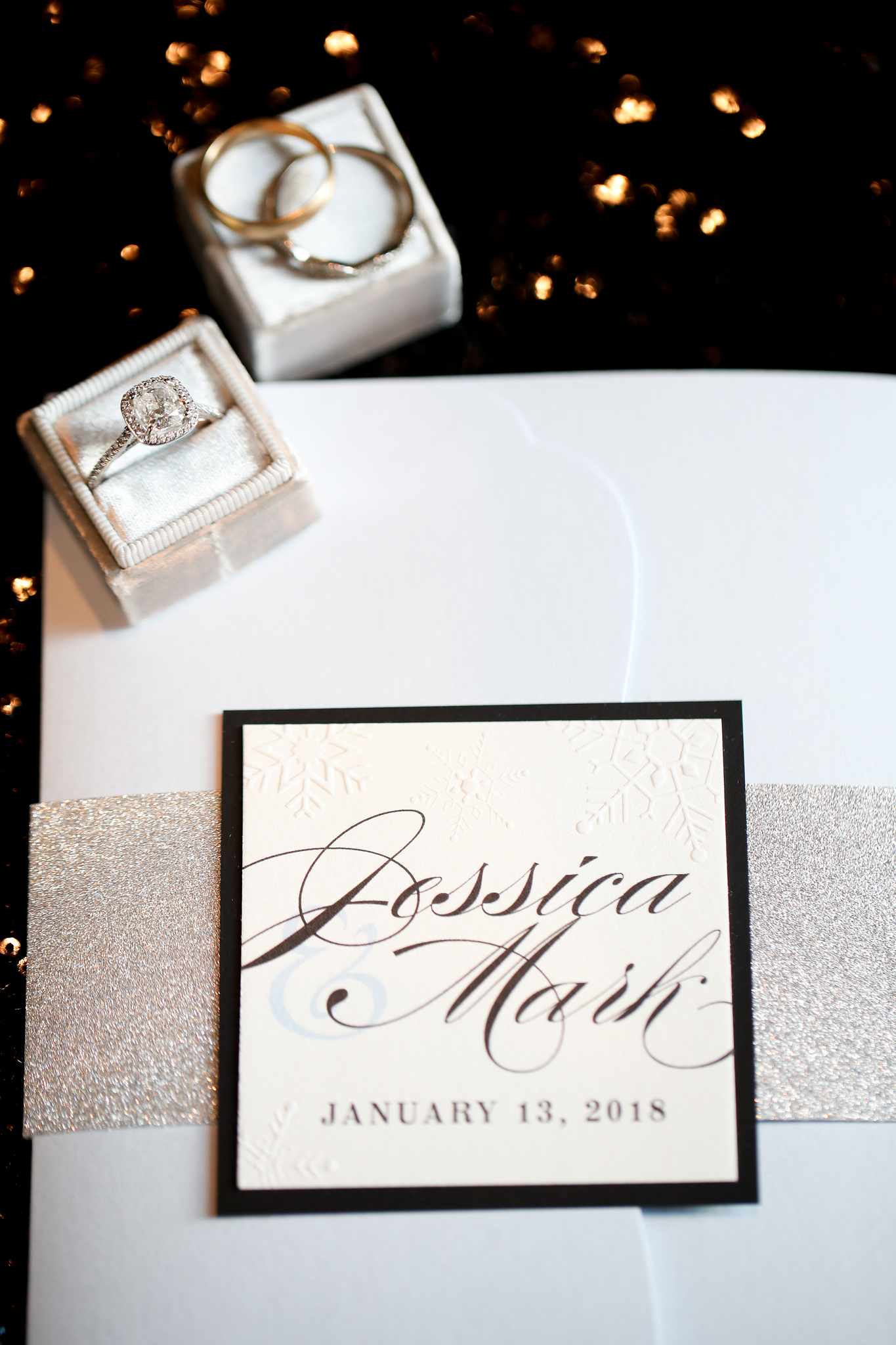 custom winter invitation