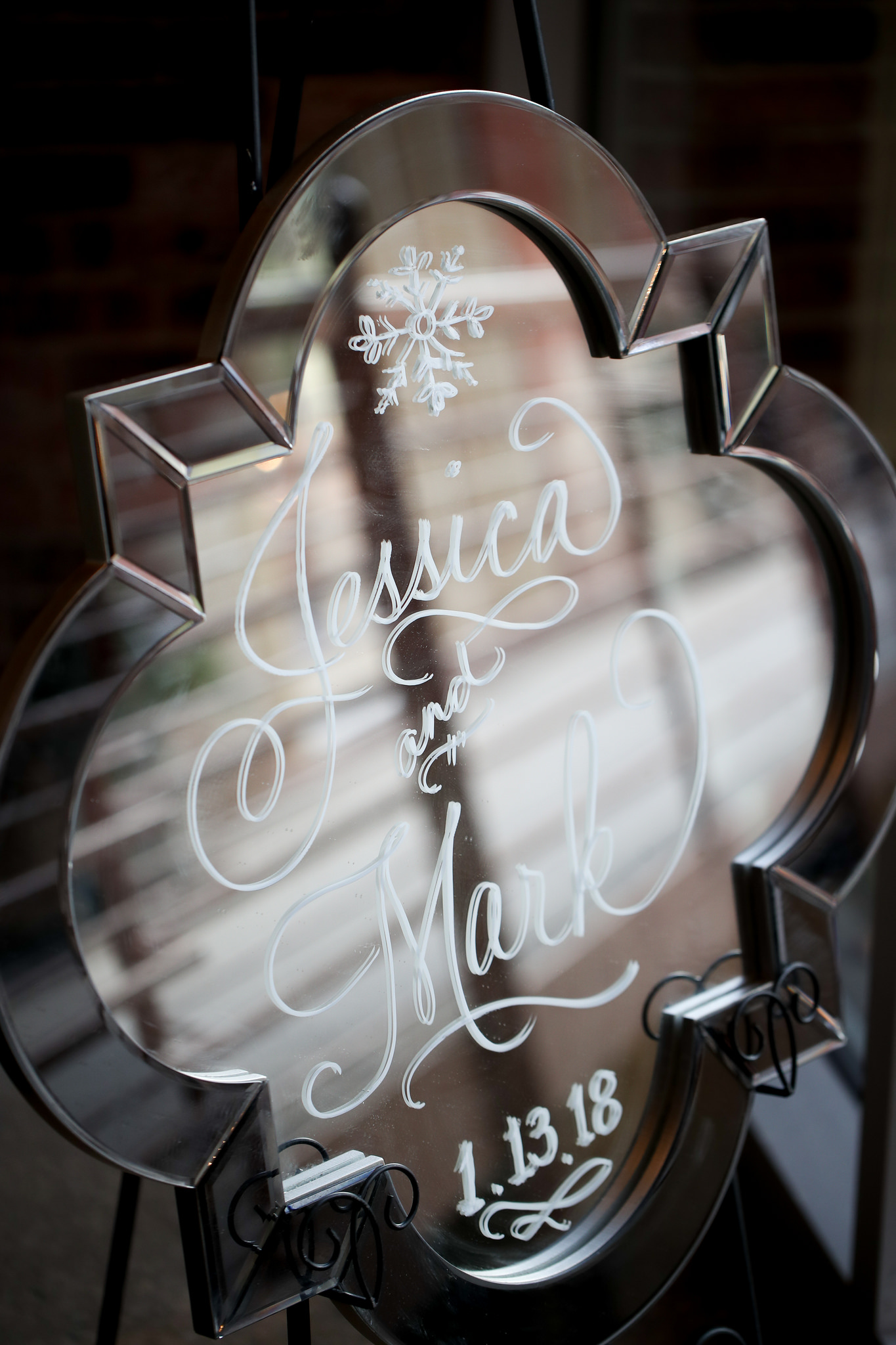 winter wedding handwriting